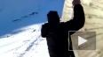 На Домбае турист разбился насмерть, скатываясь в зорбе с...