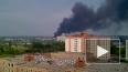В Новосибирске горит склад с краской