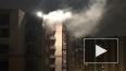 Появилось видео ночного пожара со взрывами на стройке ...