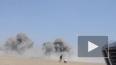 Кадры с места падения сбитого ИГИЛ сирийского самолета ...