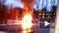 Видео: на Партизана Германа сгорел грузовик