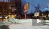 Появилось видео горящего рекламного щита в Санкт-Петербурге