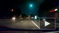 Падение зеленого метеора попало на видео