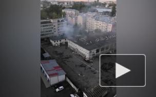Пожар на территории бывшего Невского рынка