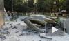 Появилось видео разрушенного памятника Ленину в Крыму