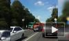 Центр Пушкина встал в пробку из-за столкновения двух грузовиков