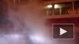 На мосту Александра Невского сгорел трамвай