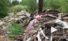 Очевидцы: нерадивые рабочие устроили огромную свалку в промзоне Металлостроя
