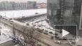 Авария перекрыла съезд на Пироговскую набережную с Финля...