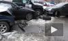 В Москве Porsche Cayenne протаранил пять автомобилей