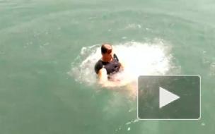 Видео: Полторы тысячи американцев на «ватрушках» смыло по реке в Канаду