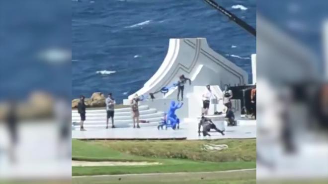 В Сети разместили видео со съемок «Тора» с летающей Натали Портман