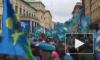 Видео: мирные петербургские десантники прошли от Дворцовой до Марсова поля