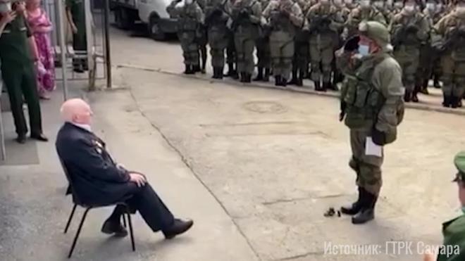 Самарскому ветерану устроили личный парад Победы и сняли на видео