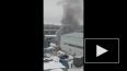 На улице Ольги Берггольц сгорел вагончик грузчиков