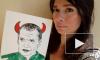 Петербургская художница нарисовала грудью портрет Соловьева в образе беса