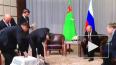 Путину президент Туркменистана подарил щенка породы ...