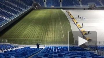 """Свежее видео со стадиона """"Крестовский"""""""