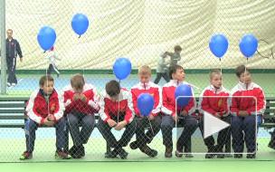 Мастер-класс по теннису от Валентины Матвиенко. На ...