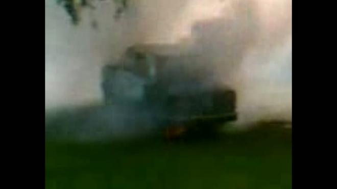 Адская машина - сама загорелась и поехала