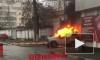 Видео из Краснодара: В центре города загорелся полицейский УАЗ с задержанным внутри