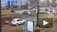 """На Московском проспекте """"Фольксваген"""" снес дорожный знак"""