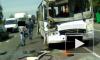Очевидцы: в ДТП на Колпинском шоссе виноват водитель маршрутки