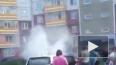 В Красноярске загорелась машина с двумя маленькими ...