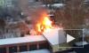 В Красноярске горит одноэтажное здание: появилось видео