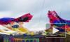 Над Новой Голландией установили арт-инсталляцию в виде гигантской Жар-Птицы (видео)