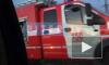 """Петербуржцы заметили горящий автобус у """"МЕГИ Дыбенко"""""""