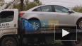 Видео: Эвакуатор с авто врезался в столб