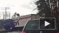 Жуткое видео из Калининграда: фура раздавила пикап