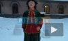 В Петербурге из снега слепили Елизавету Петровну и Петра I