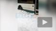 Автобус застрял в снегу на улице Демьяна Бедного