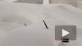Норильск за одну ночь утопило под 2х метровыми сугробами