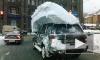День жестянщика в Петербурге: аварии, пробки, метель и наводнение
