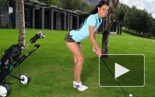 Горячий прогноз погоды с живописных полей для гольфа