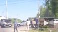 Страшное видео из Пензы: грузовик протаранил легковушку