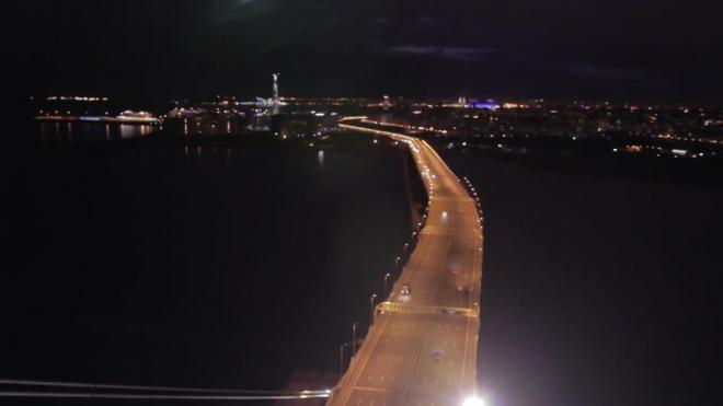 Петербургские руферы забрались на вантовый мост ЗСД (видео)