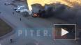 Видео: на Московском шоссе загорелся внедорожник