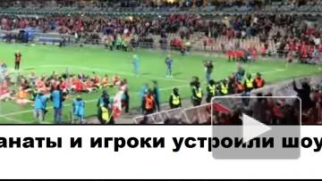 В Финляндии игроки и фанаты вместе отпраздновали победу