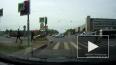 """Удачливый пешеход увернулся от ДТП на """"Бухарестской"""""""