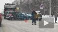 Видео: на Руставели мусоровозом попал в массовое ДТП
