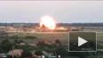 Момент обстрела украинской базы попал на видео