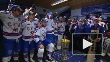 Раздевалка СКА после победы в Кубке Гагарина