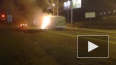На проспекте Маршала Жукова сгорела маршрутка