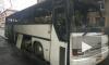 Ночью в Петербурге сгорел автобус из соседнего региона
