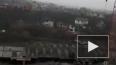 Устрашающее видео: в Брянске рухнула стрела крана