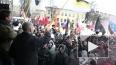 """Нацболы захватили трибуну на митинге """"За честные выборы""""..."""